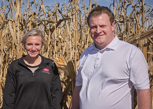 Sydney and Mark Anthony in corn field